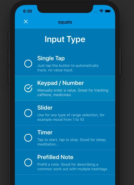 Tracker Types in Nomie 3