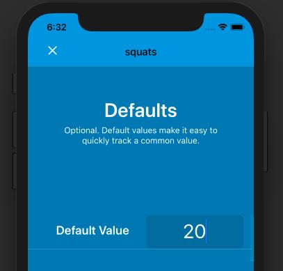 Default value in Nomie 3