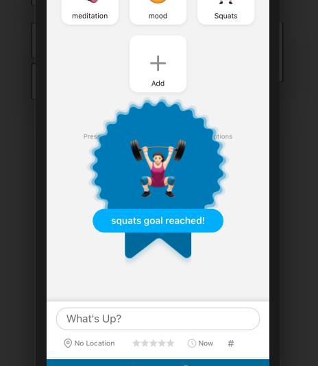 Nomie goal notification